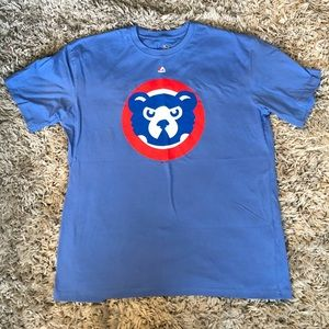 NEW Majestic Chicago Cubs graphic tee shirt